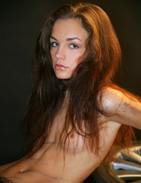Model lily in dirty work