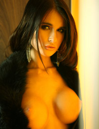 Model nessa in fur coat