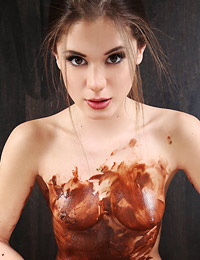 Model little caprice in chocolate